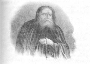 Литография 1856 года Прп. Серафим Саровский