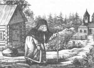 Литография 1870 года Старец Серафим
