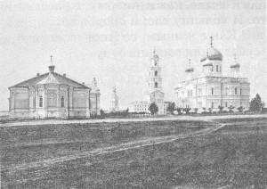 Фотография кон. XIX века Дивеевский монастырь с левой стороны
